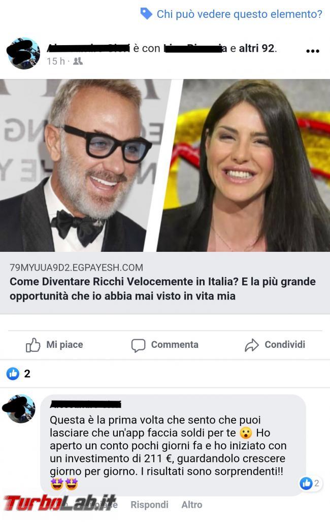 Virus Facebook: Come diventare ricchi velocemente Italia? - Screenshot_20201020-022332