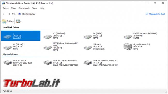 Visualizzare partizione Linux Windows recuperare file ci servono