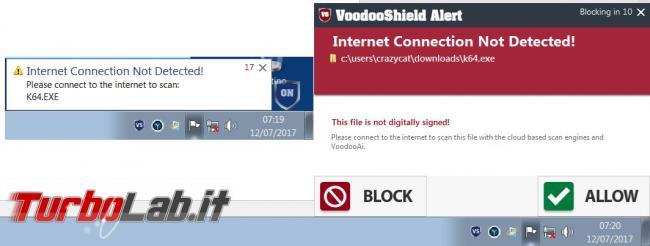 VoodooShield protegge sistema operativo eseguibili sconosciuti