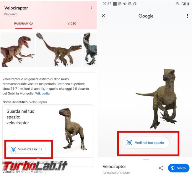 Vuoi dinosauro casa giardino? Google ti riporta Giurassico click