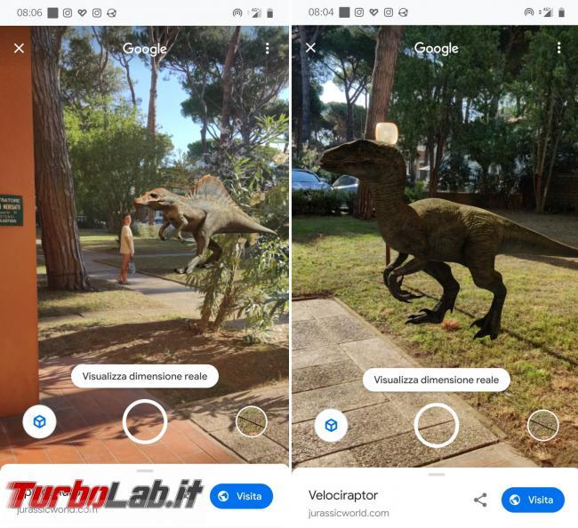 Vuoi dinosauro casa giardino? Google ti riporta Giurassico click - copertina dinozor