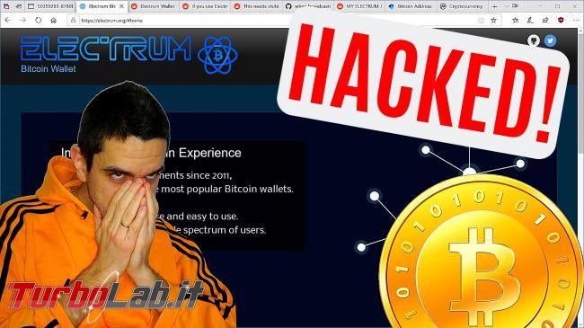 Wallet Electrum hackerato: rubati Bitcoin 1 milione dollari (video)