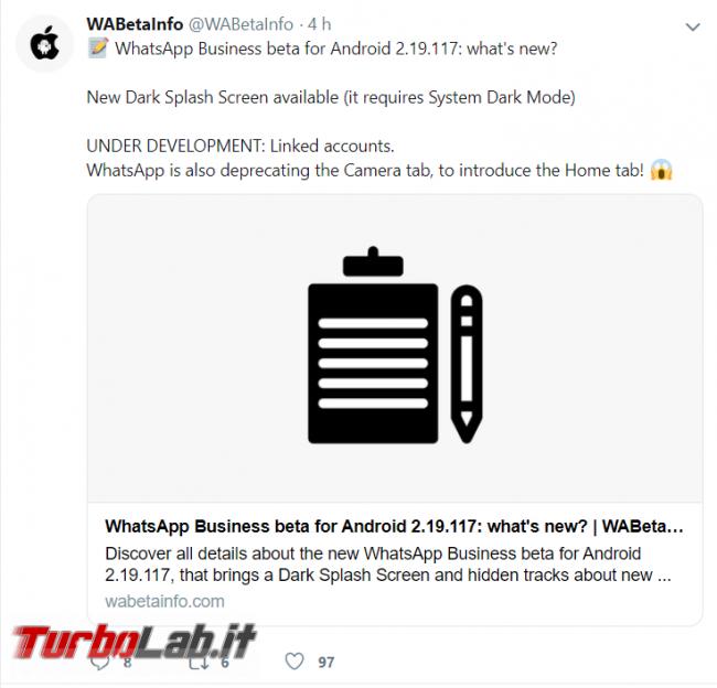 WhatsApp: interfaccia scura ormai pronta nuove emoticon arrivo - FrShot_1572972133