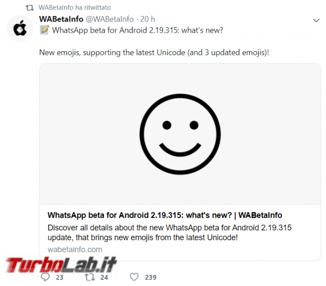 WhatsApp: interfaccia scura ormai pronta nuove emoticon arrivo - FrShot_1572972157