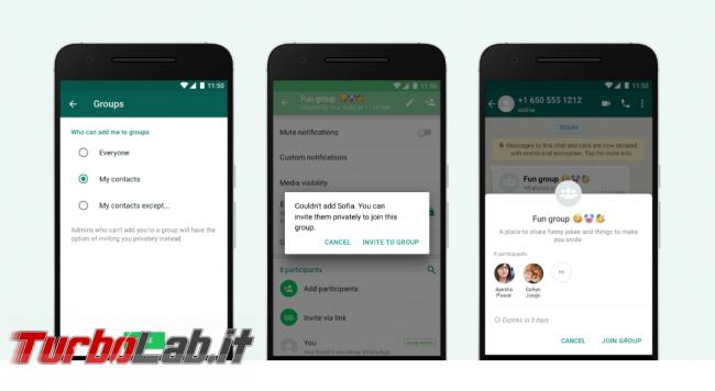 WhatsApp: nuove impostazioni privacy gruppi - FrShot_1573056691