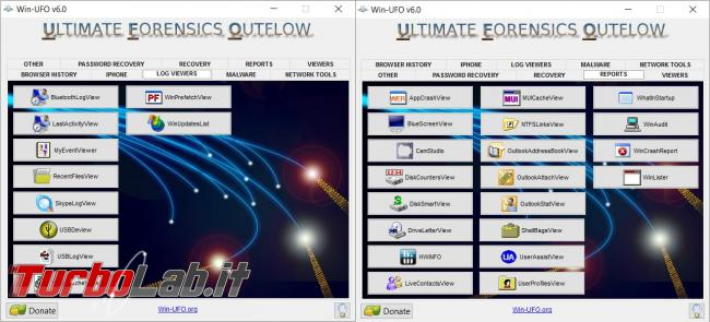 Win-UFO è kit programmi l'analisi forense computer