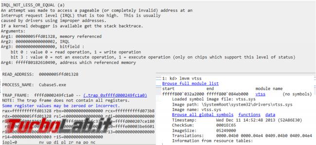 WinDbg permette analizzare schermate blu Windows