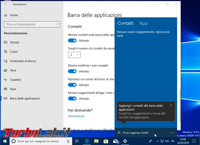 Windows 10 1803: tutte novità aggiornamento Aprile 2018