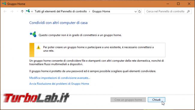 Windows 10 1803: tutte novità aggiornamento Aprile 2018 - gruppo home windows 10