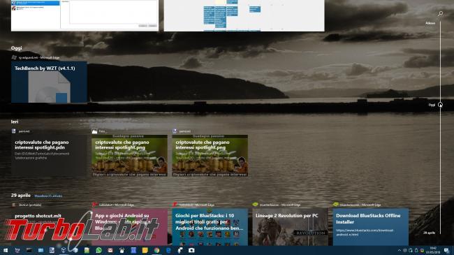 Windows 10 1803: tutte novità aggiornamento Aprile 2018 - windows 10 timeline