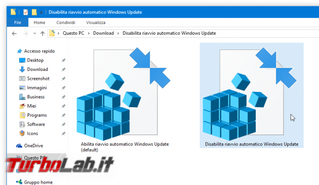 Windows 10 Anniversary Update: impedire riavvio automatico installazione aggiornamenti (NoAutoRebootWithLoggedOnUsers) - registri Disabilita riavvio automatico Windows Update