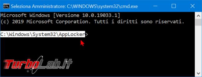 Windows 10: come aggiungere Apri finestra comando qui (Prompt comandi Amministratore) menu contestuale cartelle dischi - zShotVM_1577021758