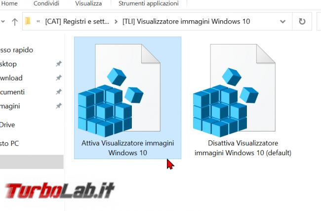 Windows 10: come attivare/installare Visualizzatore foto Windows 7/Windows 8 sostituire app Foto (ripristinare Visualizzatore immagini) - zShotVM_1591128522