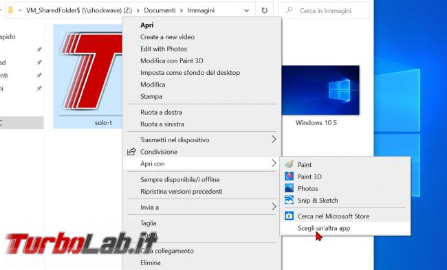 Windows 10: come attivare/installare Visualizzatore foto Windows 7/Windows 8 sostituire app Foto (ripristinare Visualizzatore immagini) - zShotVM_1591128689