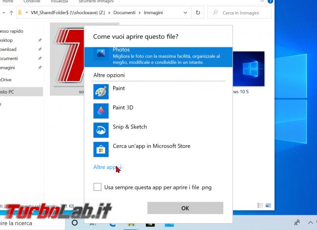 Windows 10: come attivare/installare Visualizzatore foto Windows 7/Windows 8 sostituire app Foto (ripristinare Visualizzatore immagini) - zShotVM_1591128715