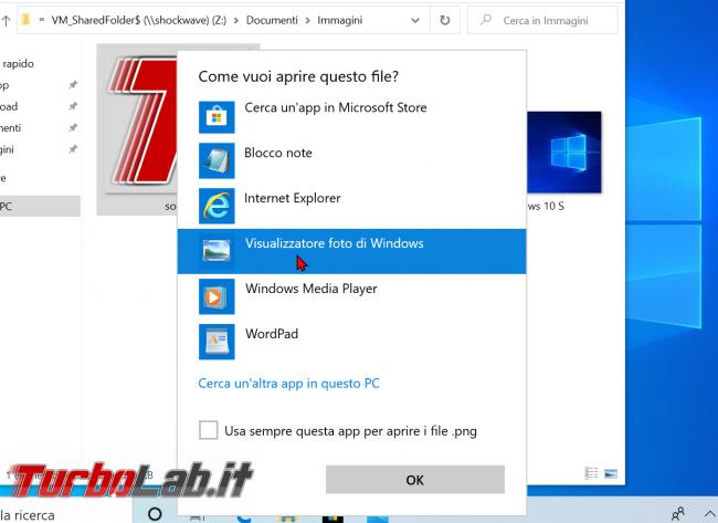 Windows 10: come attivare/installare Visualizzatore foto Windows 7/Windows 8 sostituire app Foto (ripristinare Visualizzatore immagini) - zShotVM_1591128746