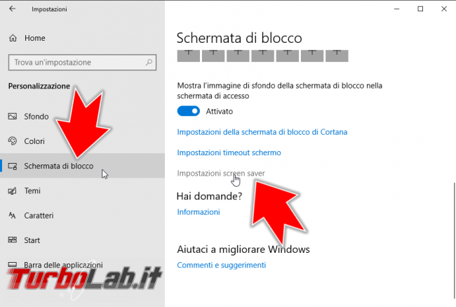 Windows 10: come bloccare automaticamente PC notebook dopo 5/10/15 minuti inattività