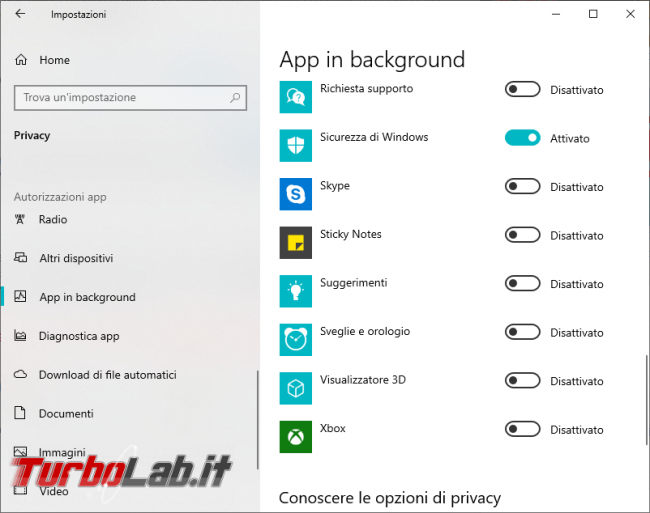 Windows 10: come disattivare app non necessarie background - 2019-05-09_190932
