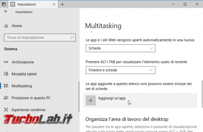 Windows 10: come disattivare rimuovere tab / Set schede programmi (guida)