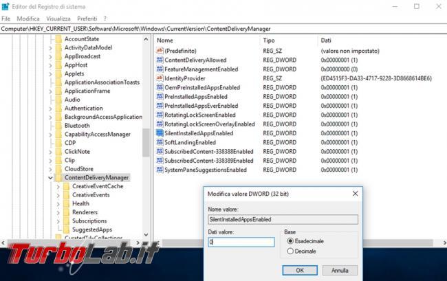 Windows 10: come impedire l'installazione automatica app giochi menu Start (guida)
