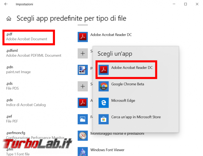 Windows 10: come impostare Adobe Reader (Acrobat) come lettore PDF predefinito - FrShot_1572848530