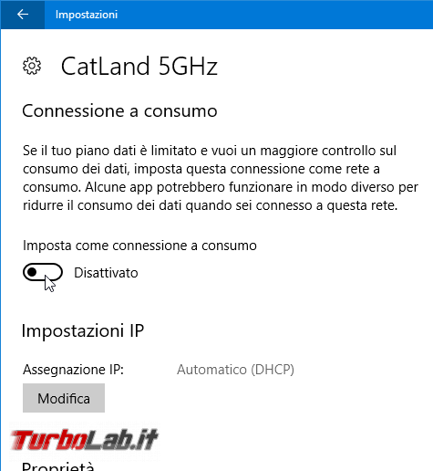 Windows 10: come impostare connessione consumo ridurre giga rete mobile (smartphone tether / router 4G LTE)