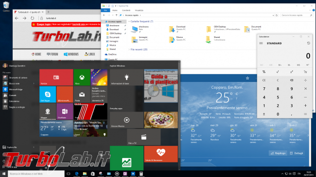 Windows 10, FAQ italiano - risposte veloci domande frequenti - windows 10 desktop