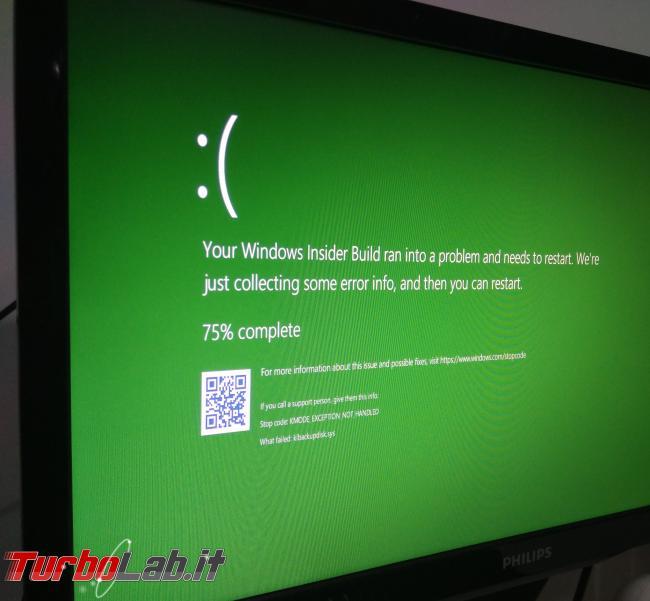 Windows 10 Home: come bloccare / sospendere aggiornamenti automatici Windows Update (guida) - windows 10 bsod green crash