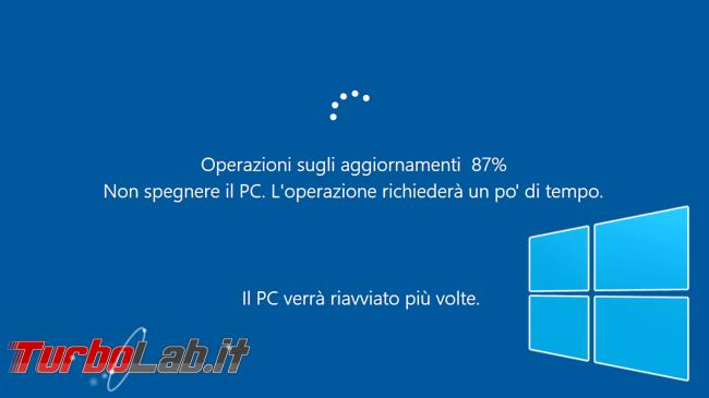 Windows 10: impedire / bloccare riavvio inopportuno Orario attività - windows updating brand