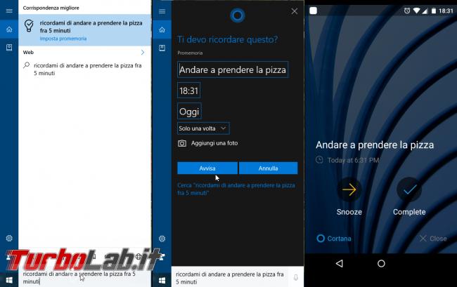Windows 10 incontra Android: guida definitiva sfruttare insieme PC smartphone - localizzarlo farlo squillare remoto, sincronizzare notifiche, inviare SMS creare promemoria condivisi - windows 10 1607 promemoria cortana android