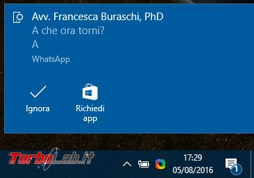 Windows 10 incontra Android: guida definitiva sfruttare insieme PC smartphone - localizzarlo farlo squillare remoto, sincronizzare notifiche, inviare SMS creare promemoria condivisi - windows 1607 notifica android whatsapp