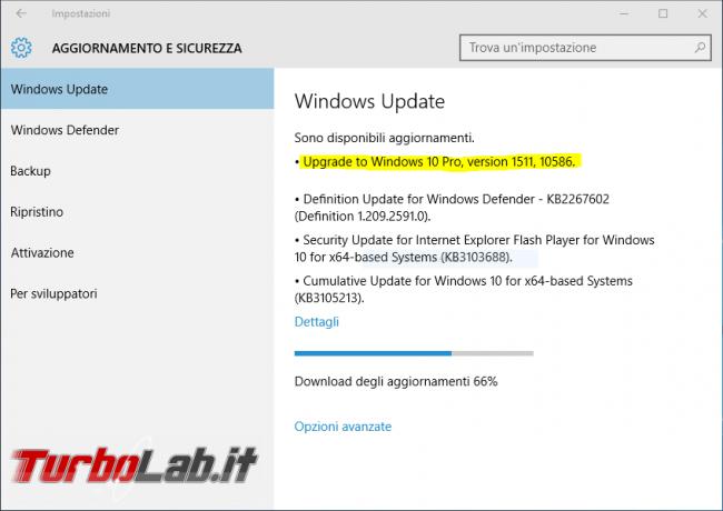 """Windows 10, seconda versione: l'""""aggiornamento d'autunno"""" arriva oggi tramite Windows Update - windows 10 aggiornamento novembre 2015 201511"""