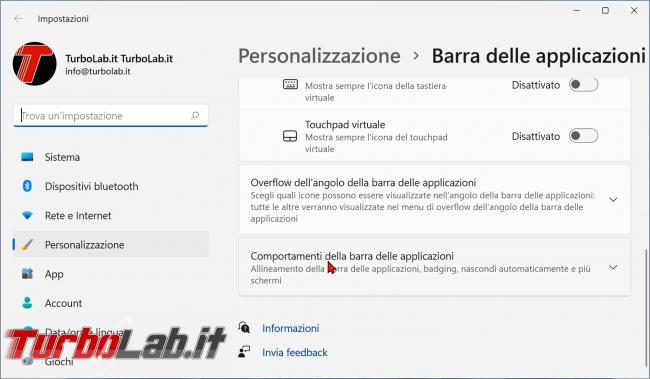 Windows 11: come allineare sinistra icone barra (ripristinare posizione pulsante Start come Windows 10) (video)
