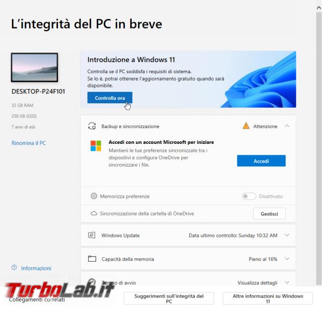 Windows 11: PC è compatibile? Guida requisiti minimi sistema (processore/CPU, memoria RAM, disco) (video) - sshot_ext_1633292184