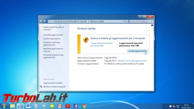 Windows 7: come scaricare aggiornamenti gratis 2021 (video) - windows 7 windows update