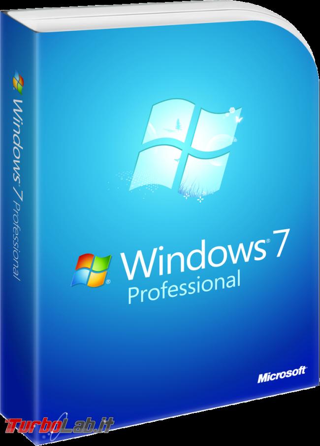Windows 7, fine supporto: come continuare ricevere aggiornamenti Extended Security Updates (ESU) - windows 7 professional box
