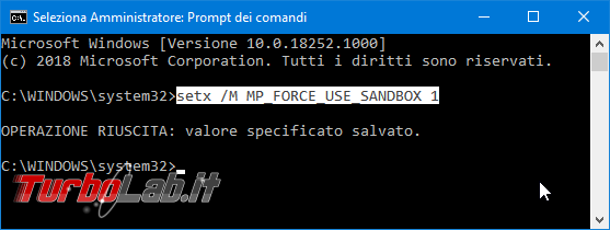 Windows Defender Antivirus sandbox: cosa significa come attivare sandbox aumentare sicurezza