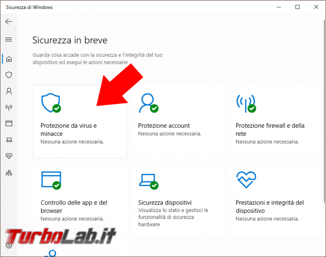 Windows Defender: come eliminare / pulire Cronologia protezione malware/virus Windows 10 - Windows defender (3)