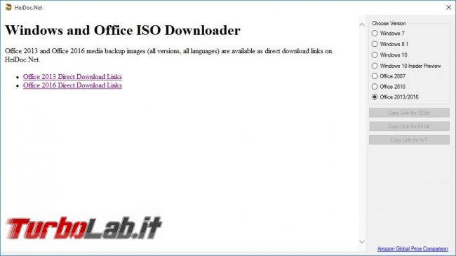 Windows ISO Downloader scarica immagini ISO (ufficiali) Windows 7, Windows 8.1 Windows 10