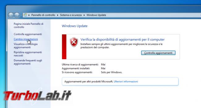 """Windows Update bloccato """"Ricerca aggiornamenti corso..."""", Windows 7 non si aggiorna (soluzione aggiornata 2021)"""