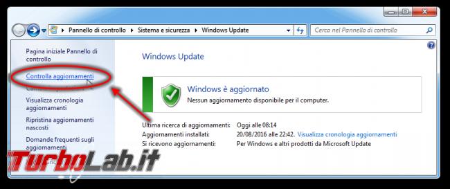 """Windows Update bloccato """"Ricerca aggiornamenti corso..."""", Windows 7 non si aggiorna (soluzione aggiornata 2021) - Windows Update controlla aggiornamenti link"""