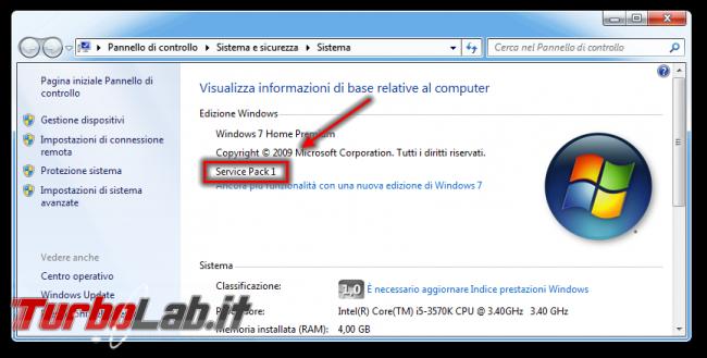 """Windows Update bloccato """"Ricerca aggiornamenti corso..."""", Windows 7 non si aggiorna - windows 7 sistema SP1"""