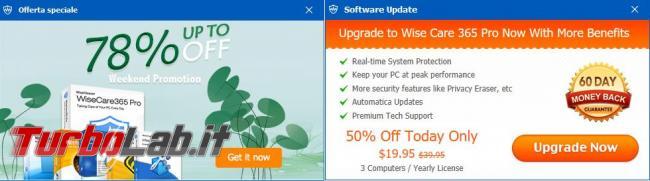 Wise Care 365 ottimizzatore sistema operativo
