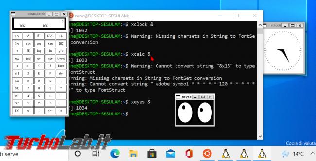 WSL Windows 10: come eseguire programmi Linux interfaccia grafica (WSLg, modo ufficiale 2021/2022) - zShotVM_1621841143