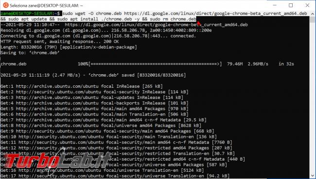 WSL Windows 10: come eseguire programmi Linux interfaccia grafica (WSLg, modo ufficiale 2021/2022) - zShotVM_1622279612