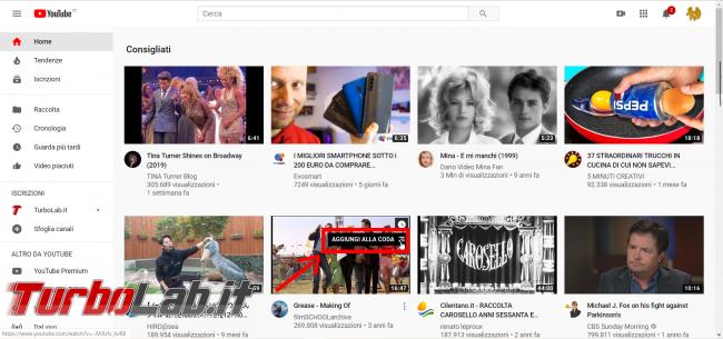 YouTube: come creare playlist (funzione Aggiungi coda) - FrShot_1573915924