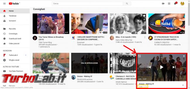 YouTube: come creare playlist (funzione Aggiungi coda) - FrShot_1573917094
