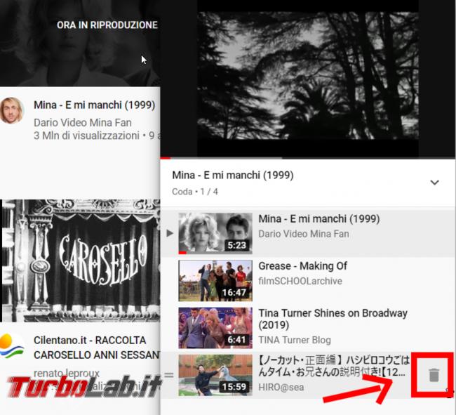 YouTube: come creare playlist (funzione Aggiungi coda) - FrShot_1573919328